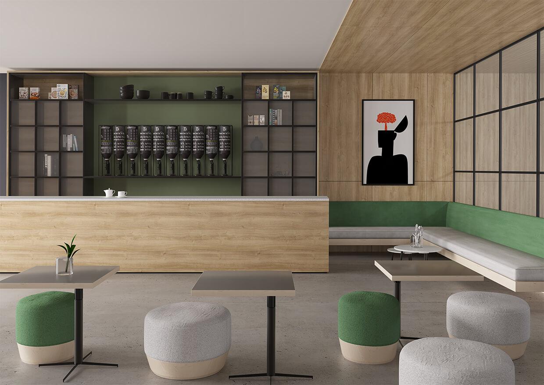Karlstad Oak Uni Pine Green Mat +